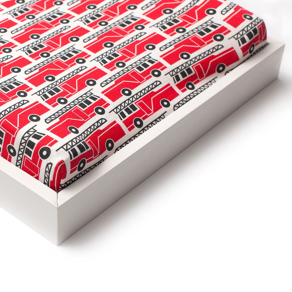 Changing Pad Cover - Firetrucks Red