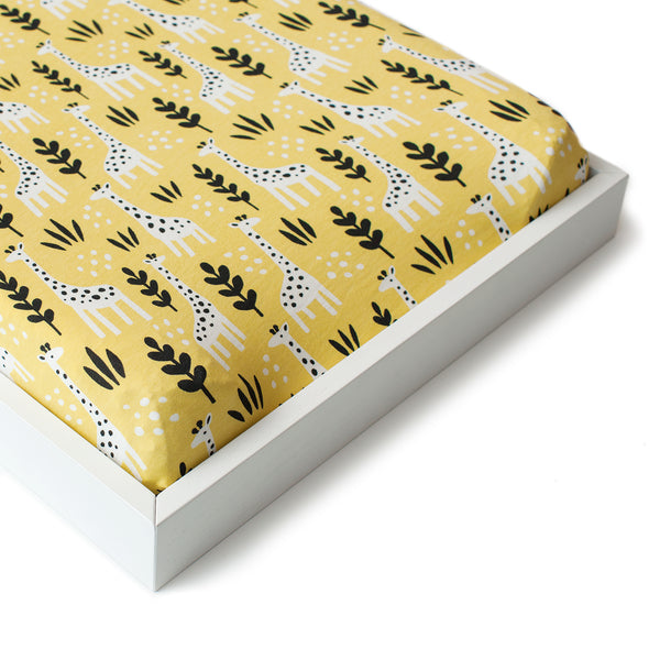 Changing Pad Cover - Giraffes Yellow