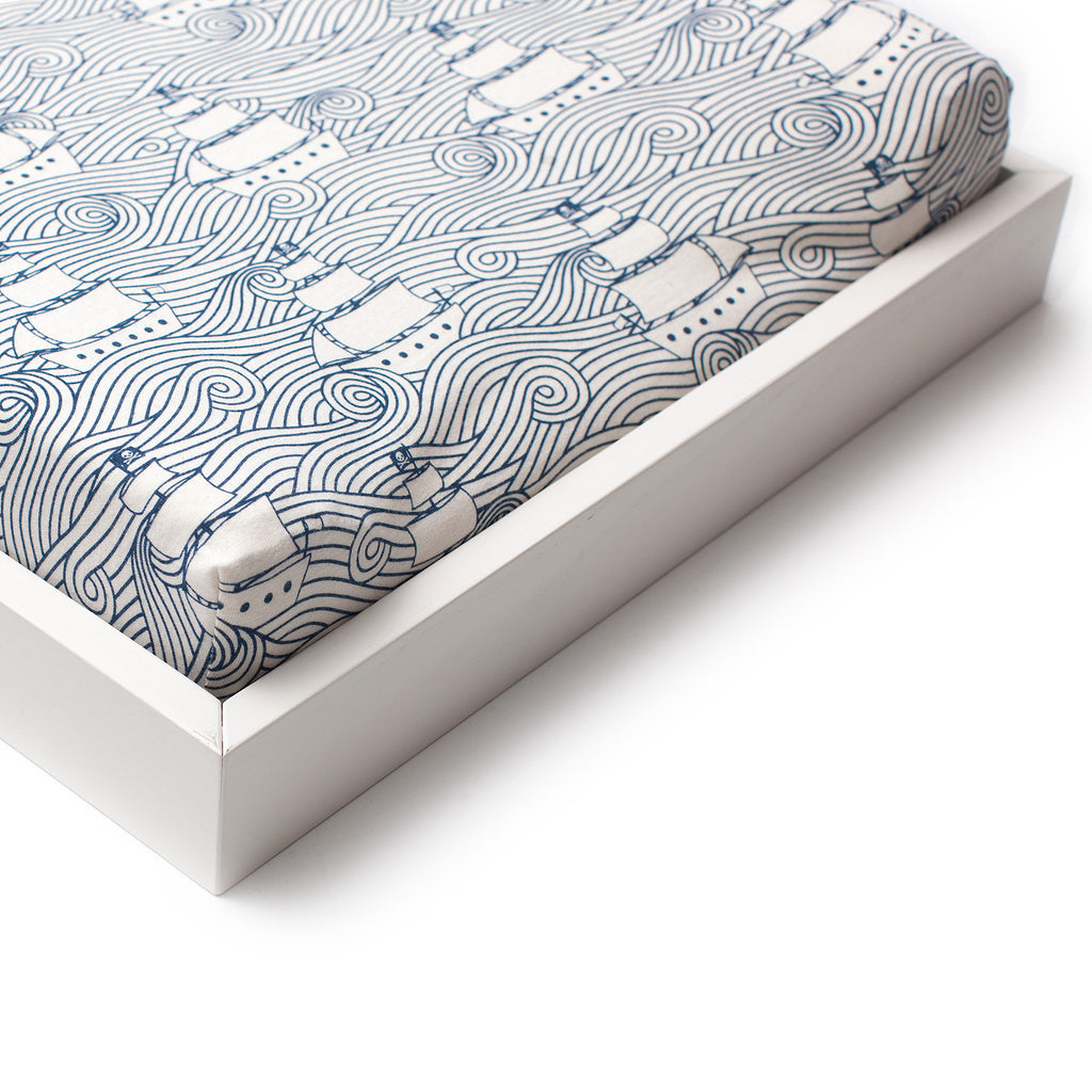 Changing Pad Cover - High Seas Navy