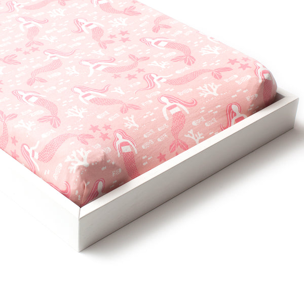 Changing Pad Cover - Mermaids Pink