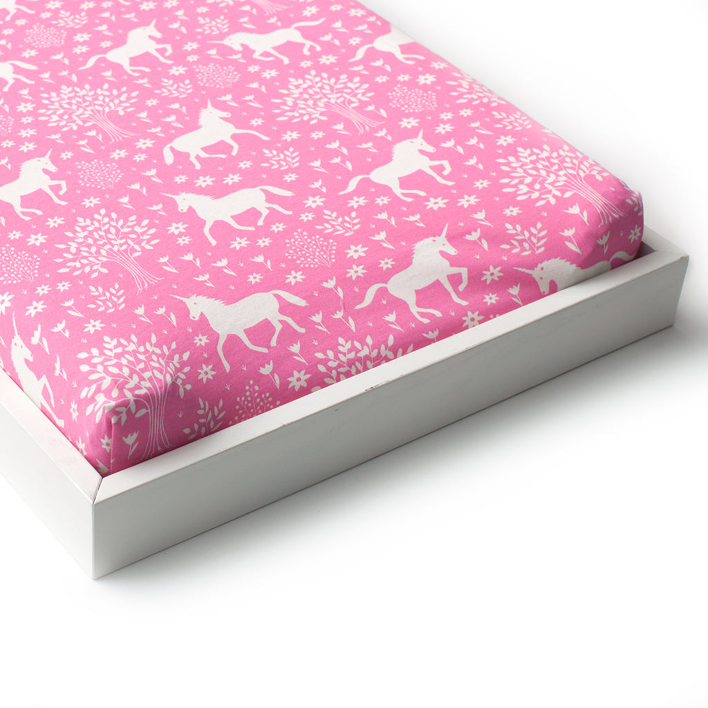 Changing Pad Cover - Magical Forest Pink