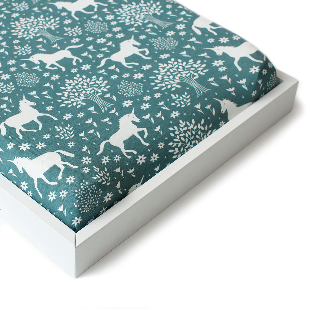 Changing Pad Cover - Magical Forest Teal