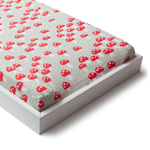 Changing Pad Cover - Mushrooms Sage