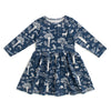 Calgary Dress - In The Forest Navy