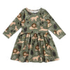 Calgary Dress - Lions Forest Green