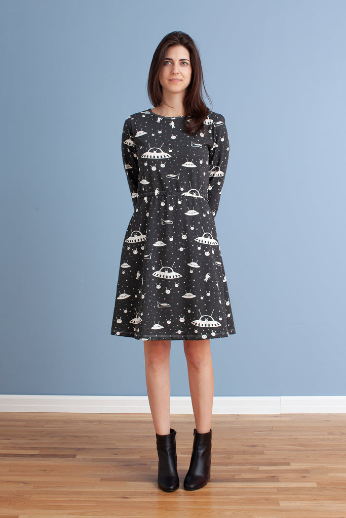 Women's Cambridge Dress - Outer Space Charcoal