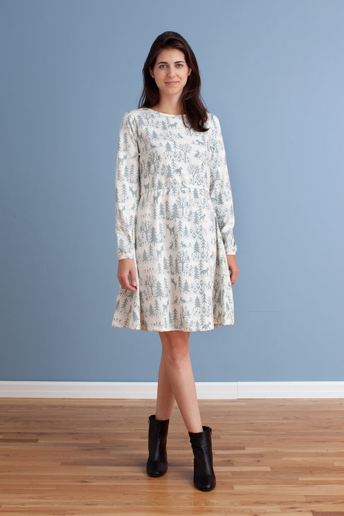 Women's Cambridge Dress - Winter Scenic Pale Blue