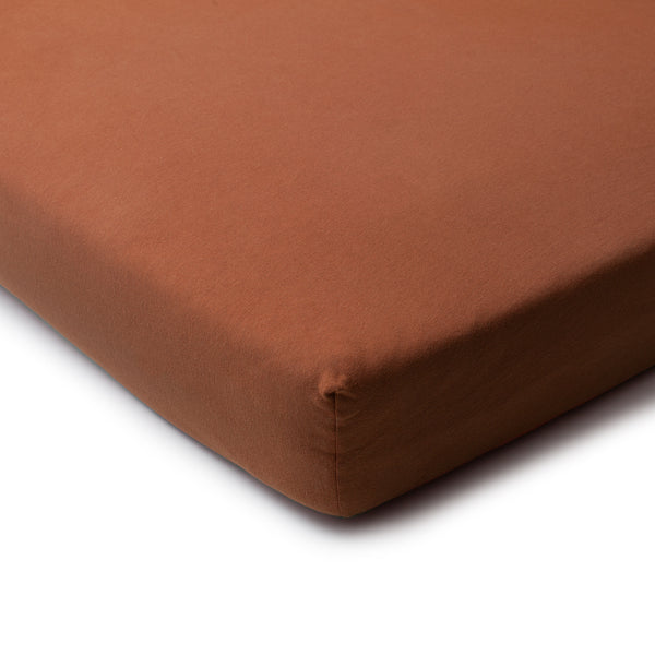 Fitted Crib Sheet - Solid Chestnut