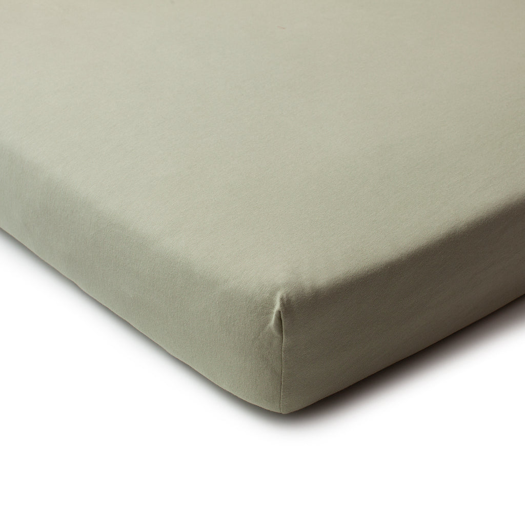 Fitted Crib Sheet - Solid Sage