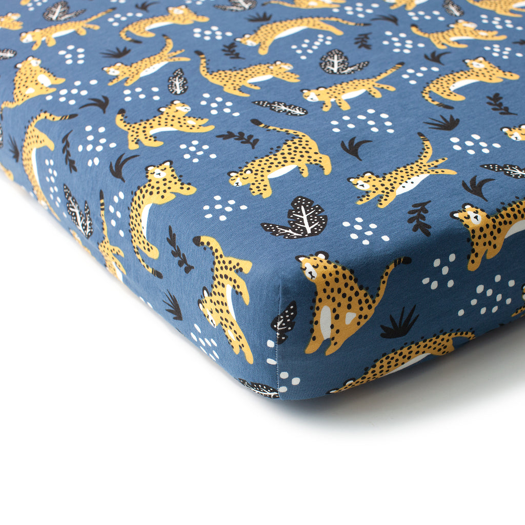 Fitted Crib Sheet - Wildcats Navy