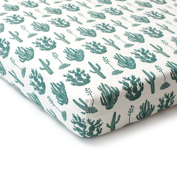 Fitted Crib Sheet - Cactus Green
