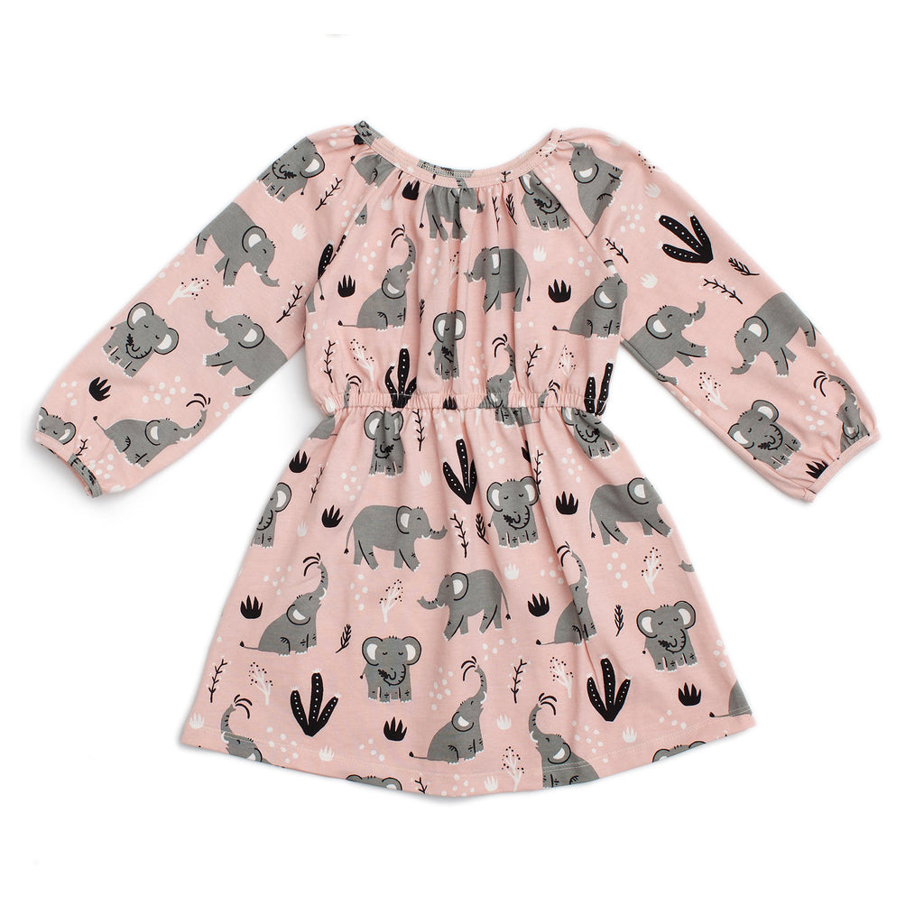Emerson Dress - Elephants Pink