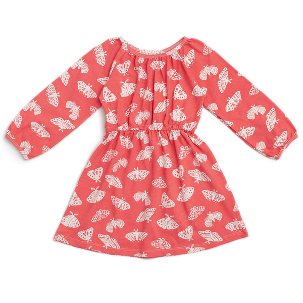 Emerson Dress - Moths Coral