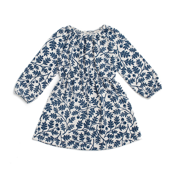 Emerson Dress - Oak Leaves Navy