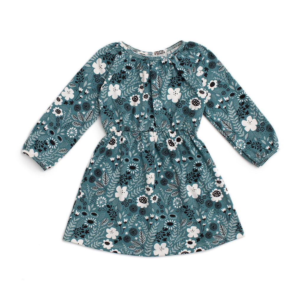 Emerson Dress - Wildflowers Teal