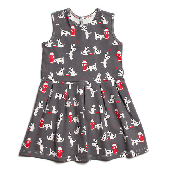 Essex Dress - Dalmatians Charcoal