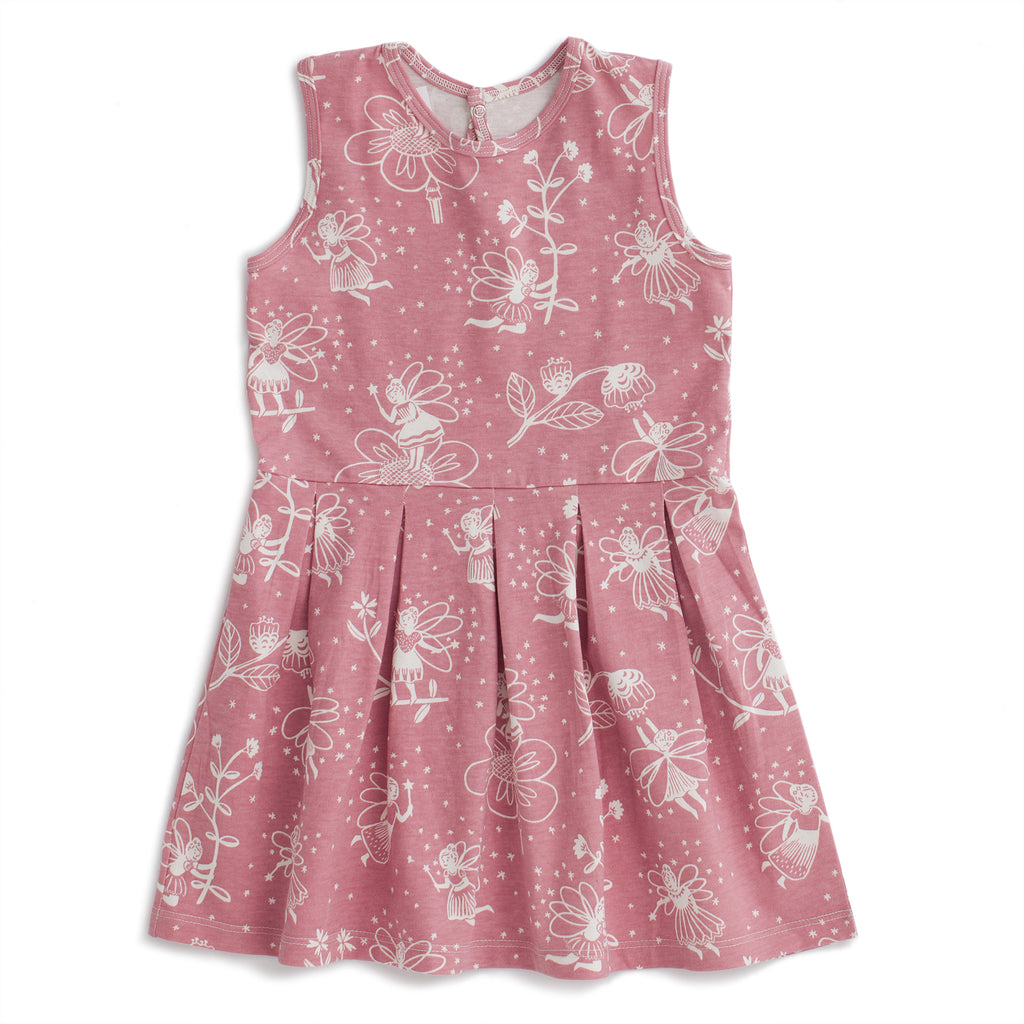 Essex Dress - Fairies Dusty Pink