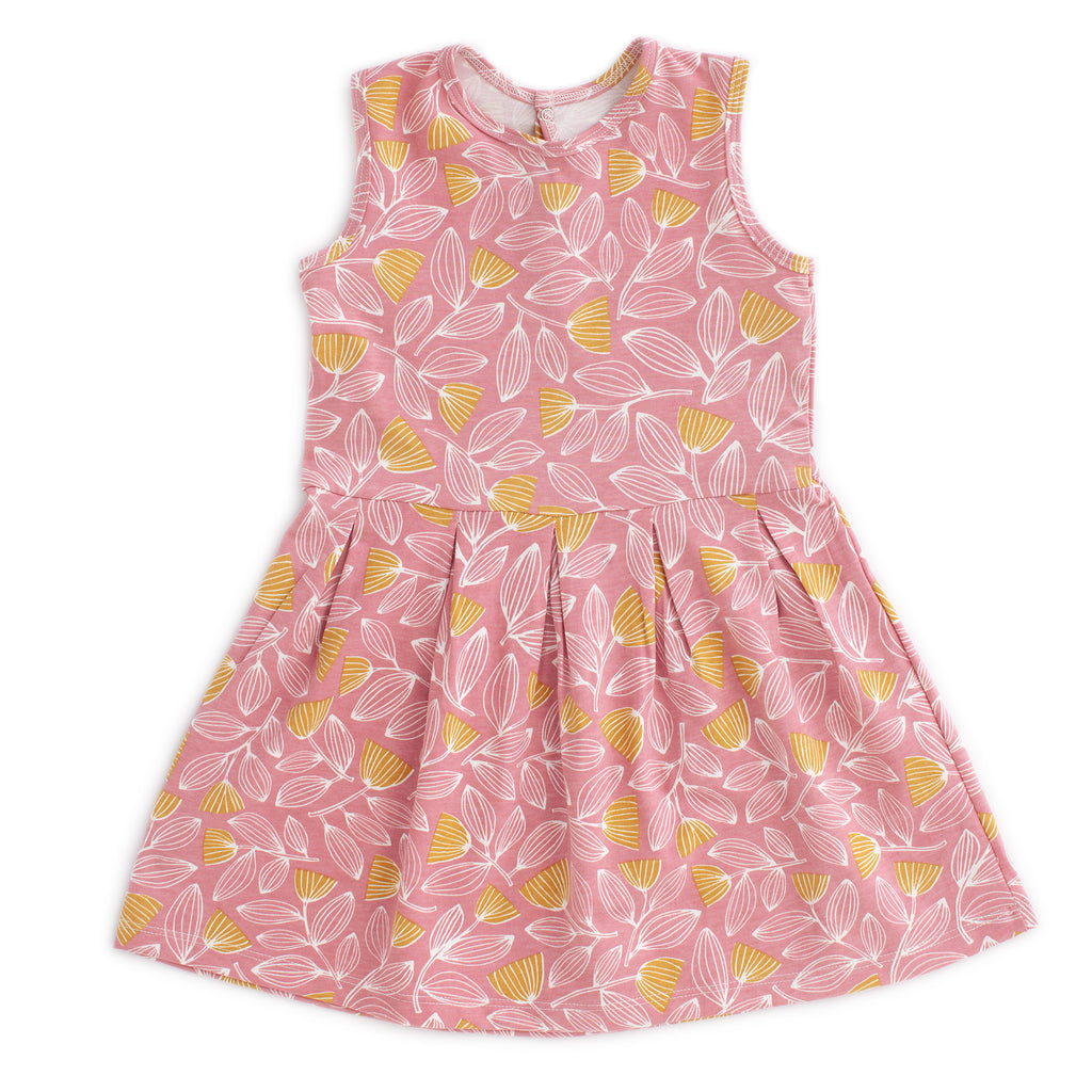 Essex Dress - Holland Floral Dusty Pink & Yellow