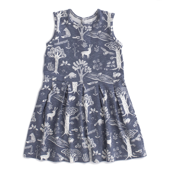 Essex Dress - In the Forest Slate Blue