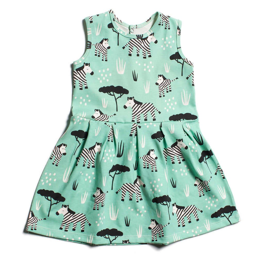 Essex Dress - Zebras Mint