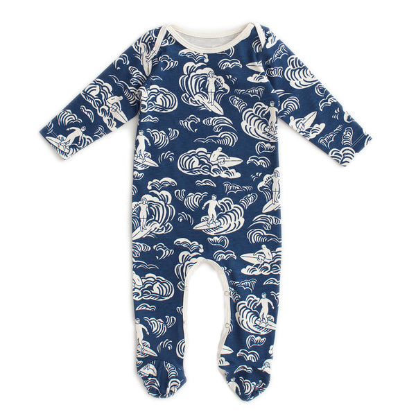 Footed Romper - Surfers Navy