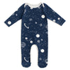 Footed Romper - Planets Night Sky