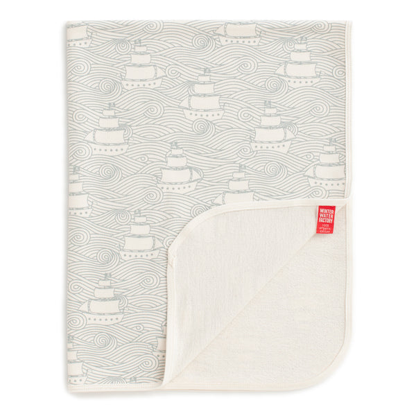 French Terry Blanket - High Seas Pale Blue