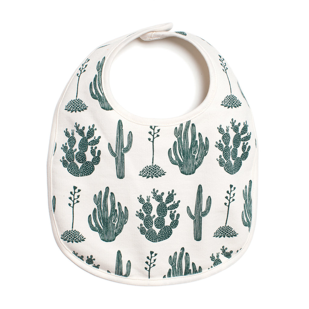 French Terry Bib - Cactus Green