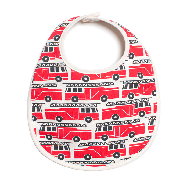 French Terry Bib - Firetrucks Red