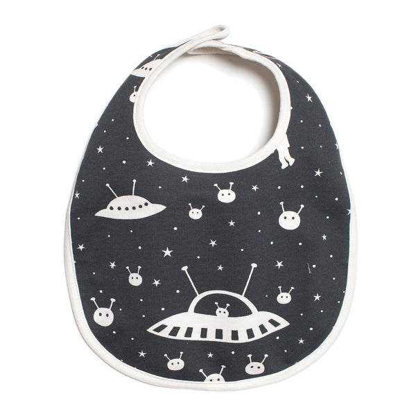 French Terry Bib - Outer Space Charcoal