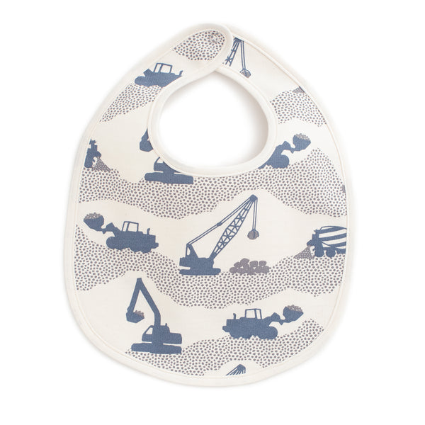 French Terry Bib - Construction Slate Blue & Grey