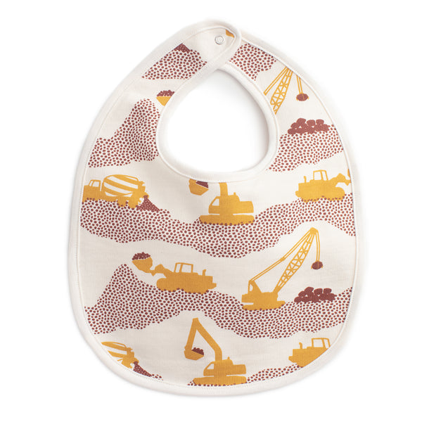 French Terry Bib - Construction Yellow & Chestnut
