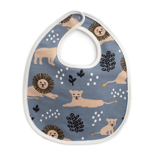 French Terry Bib - Lions Slate Blue