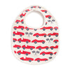 French Terry Bib - Race Cars Red