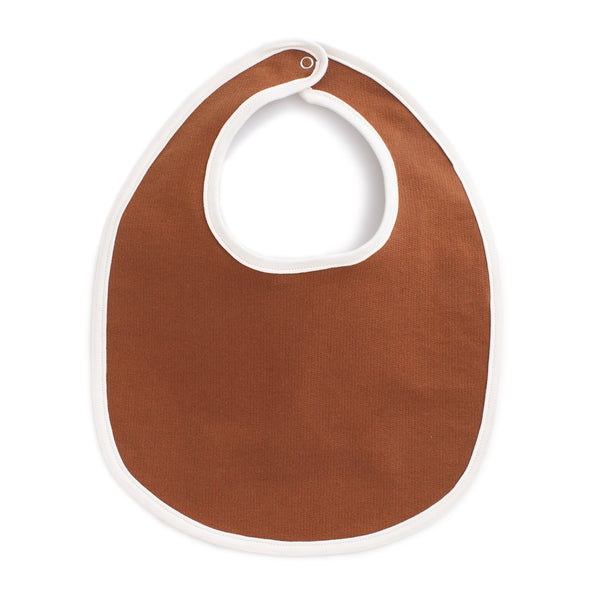 French Terry Bib - Solid Chestnut