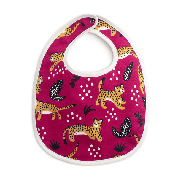 French Terry Bib - Wildcats Plum