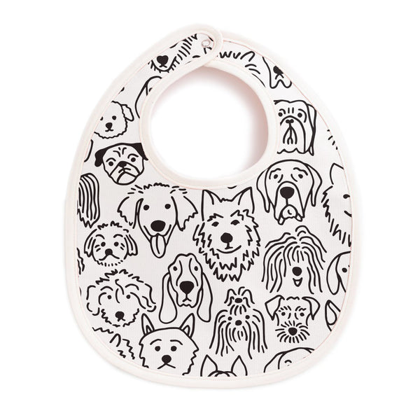 French Terry Bib - Dogs Black