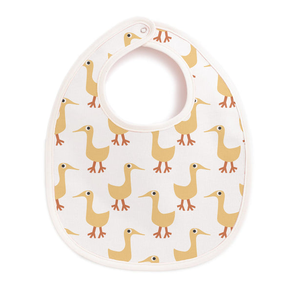 French Terry Bib - Ducks Yellow