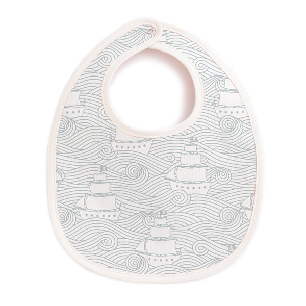 French Terry Bib - High Seas Pale Blue