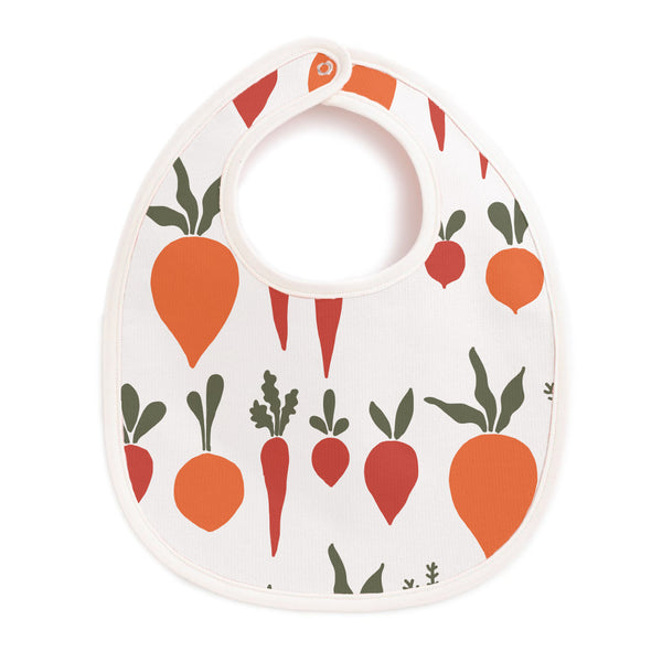French Terry Bib - Root Vegetables Natural