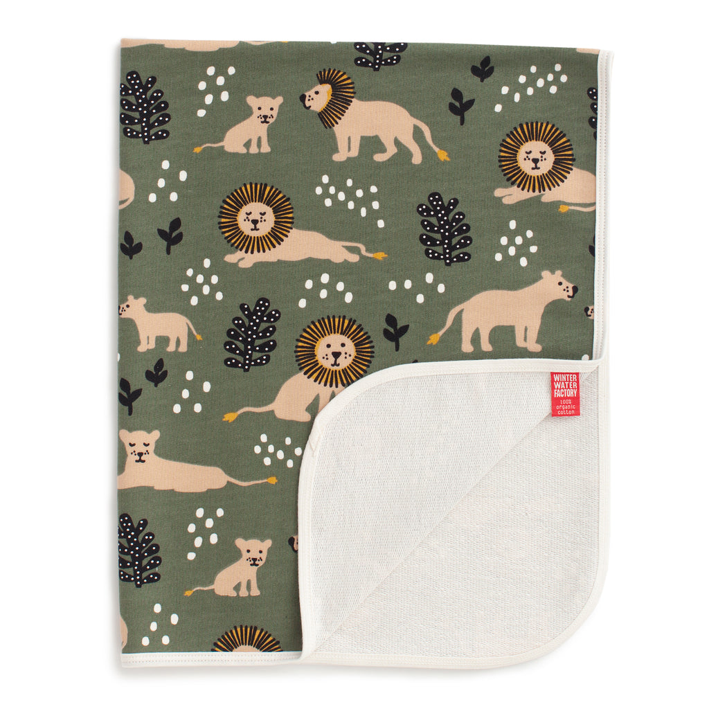 French Terry Blanket - Lions Forest Green