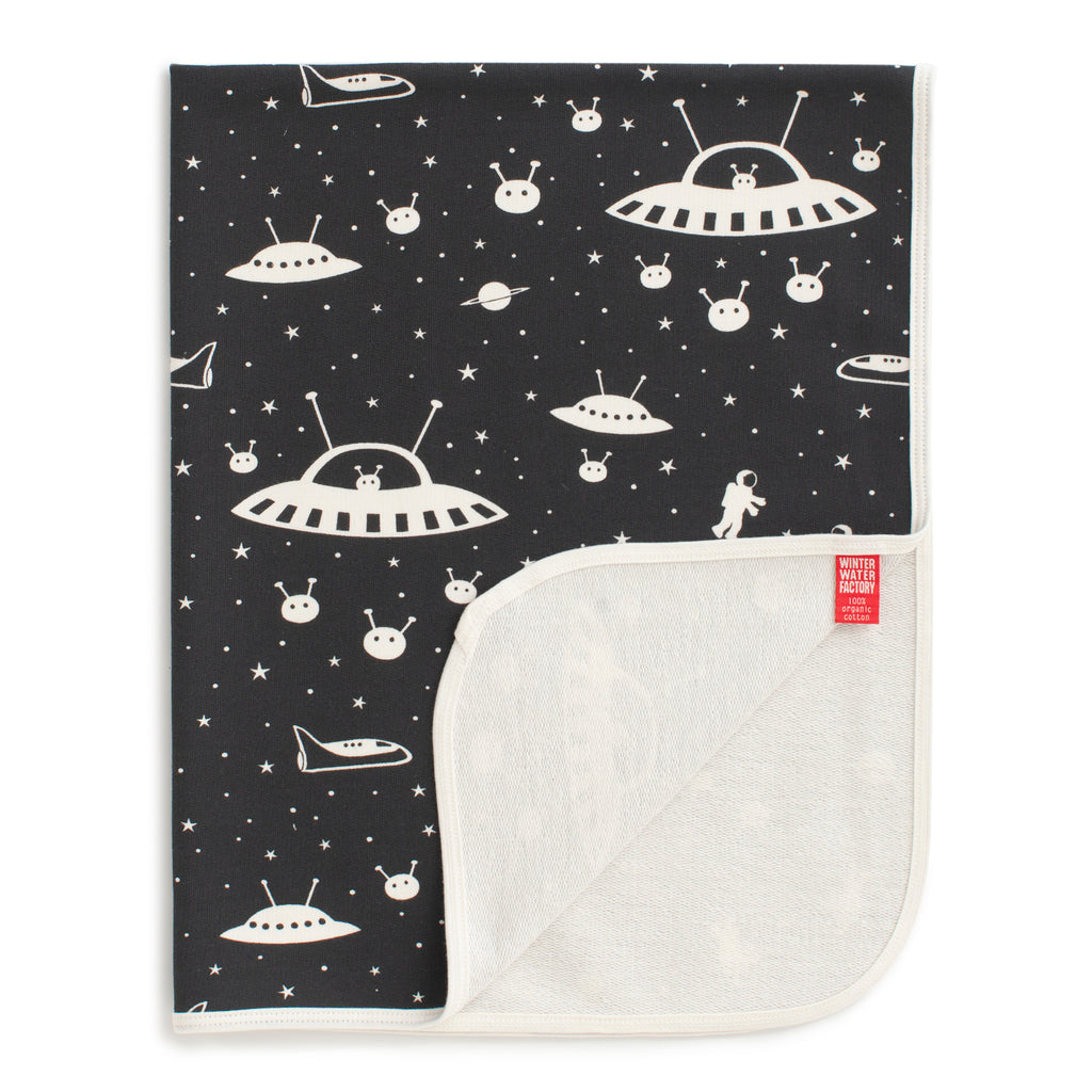 French Terry Blanket - Outer Space Charcoal