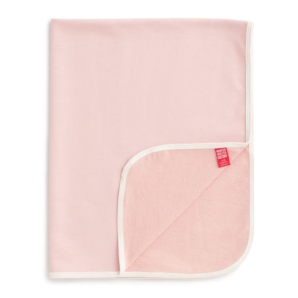 French Terry Blanket - Solid Pink