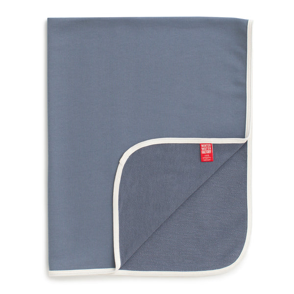 French Terry Blanket - Solid Slate Blue