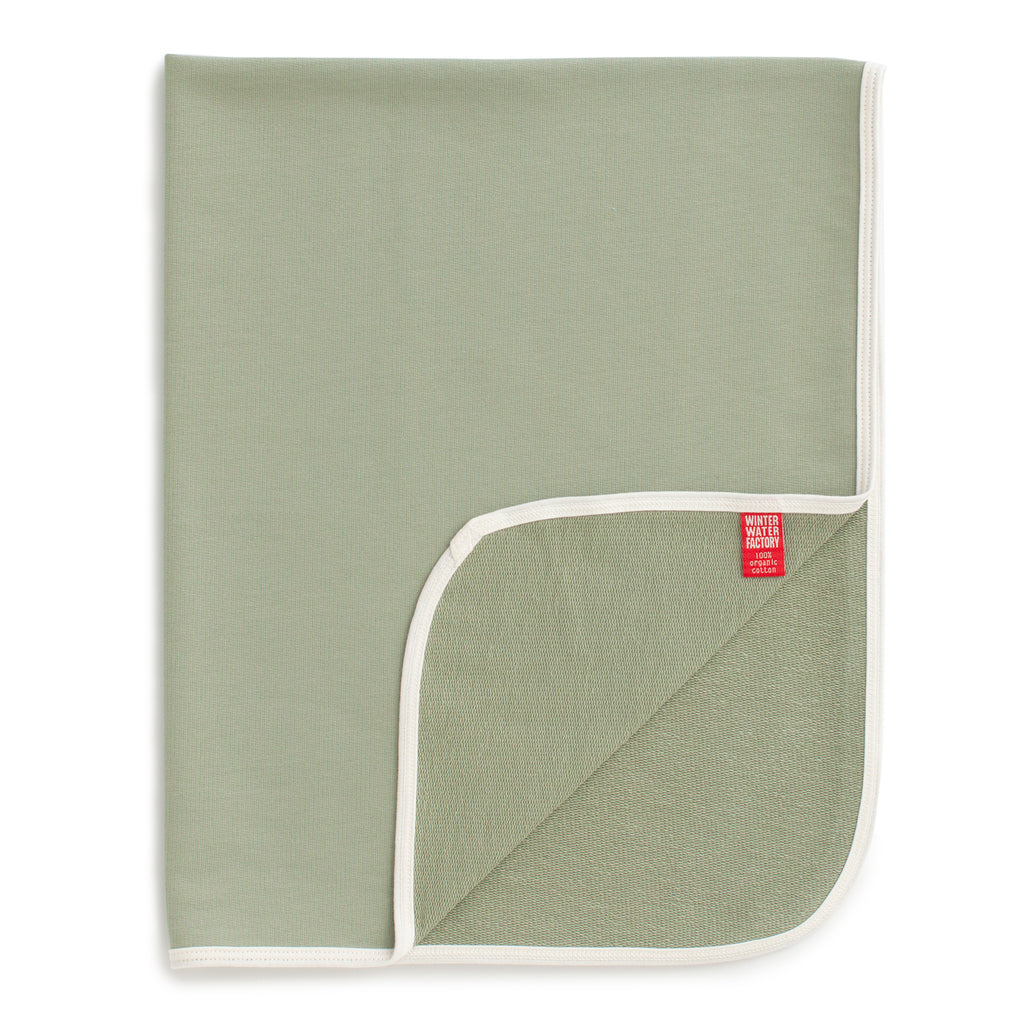 French Terry Blanket - Solid Sage