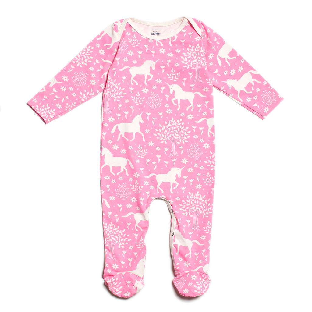 Footed Romper - Magical Forest Pink