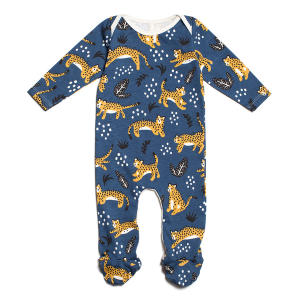 Footed Romper - Wildcats Navy