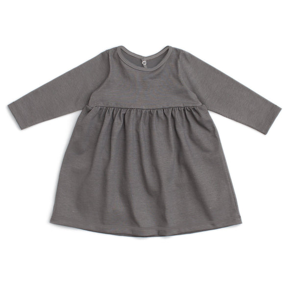 Geneva Baby Dress - Solid Charcoal