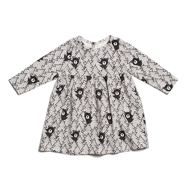 Geneva Baby Dress - Bears Black