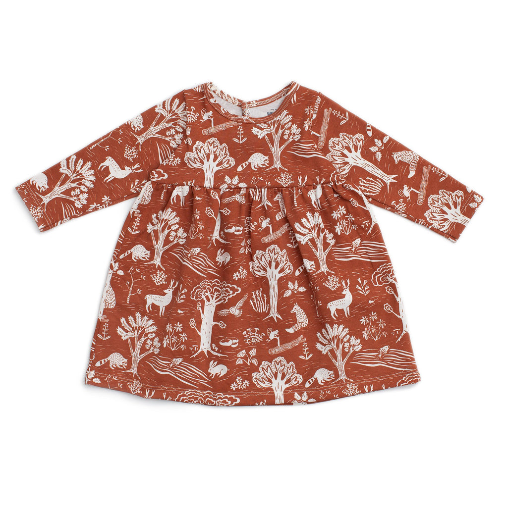 Geneva Baby Dress - In The Forest Chestnut